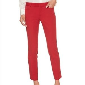 NWT Banana Republic Red Sloan Ankle Trousers